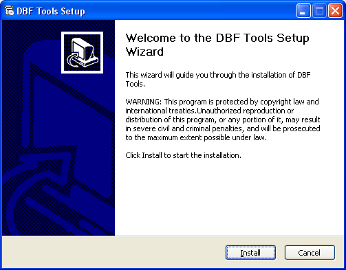 Screenshot of DBF Tools 3.1